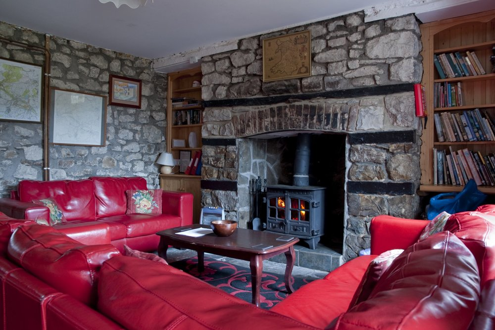 Cottage Living Room With Wood Burner