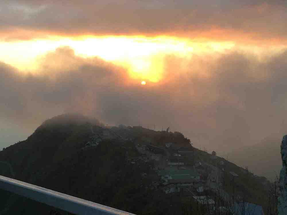 Breathtaking sunrise at Zuluk