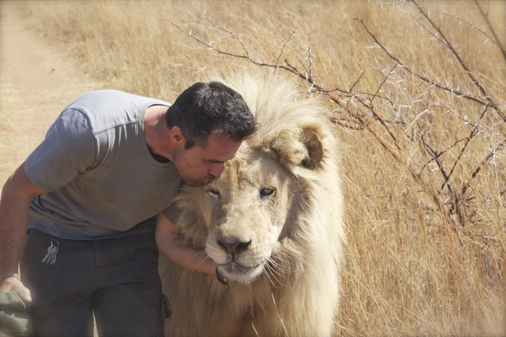 Kevin with a Lion