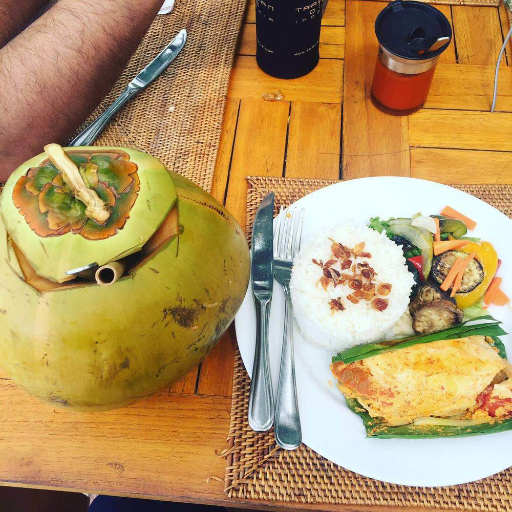 Massive coconut and delicious food