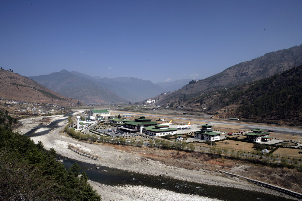 Paro Airport- The only International Airport in Bhutan