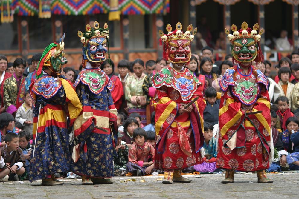 vibrant festivals of Bhutan