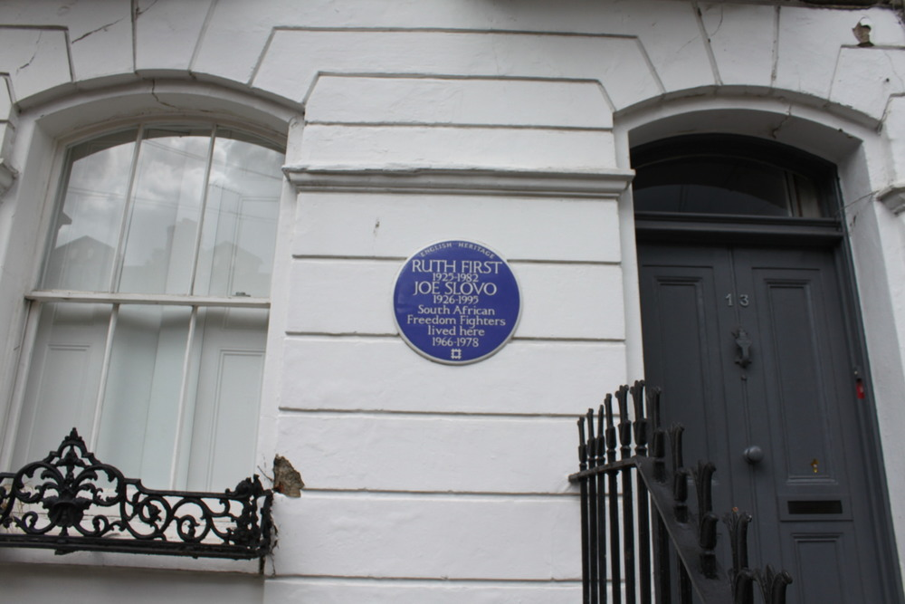 Blue Plaque on Lyme Street
