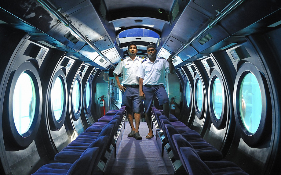 Submarine for a rendezvous with Maldives' marine life