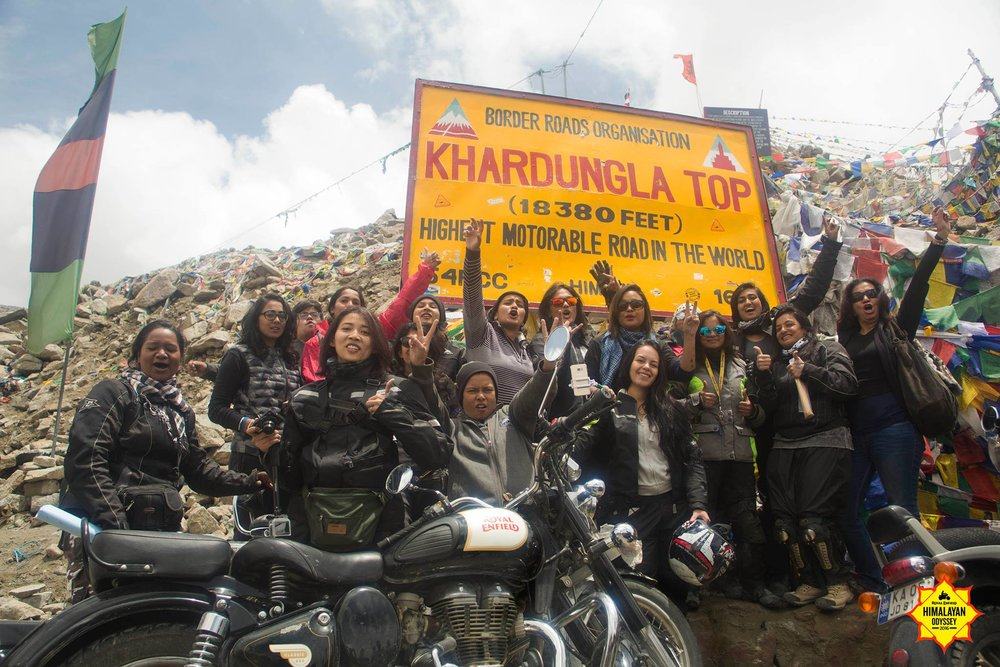 The highest motorable road in the world- Khardungla!