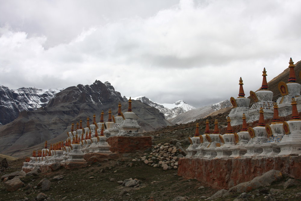 Monastery with Mount Kailash in the background