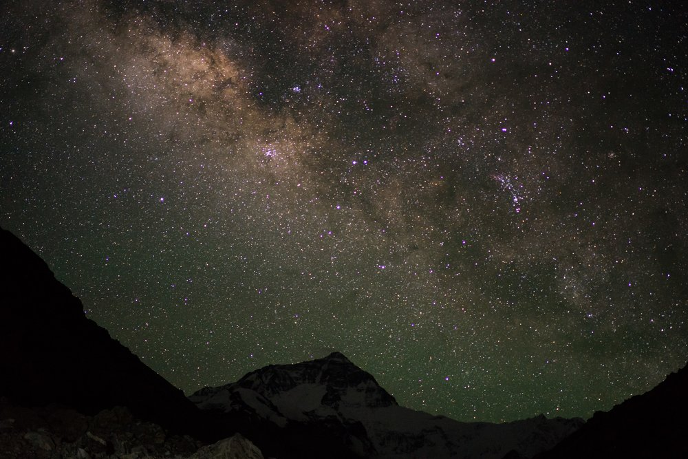 A view to travel for!! Night sky from Everest Base Camp