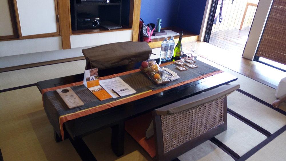 study area in the room at Adaaran Prestige Vadoo