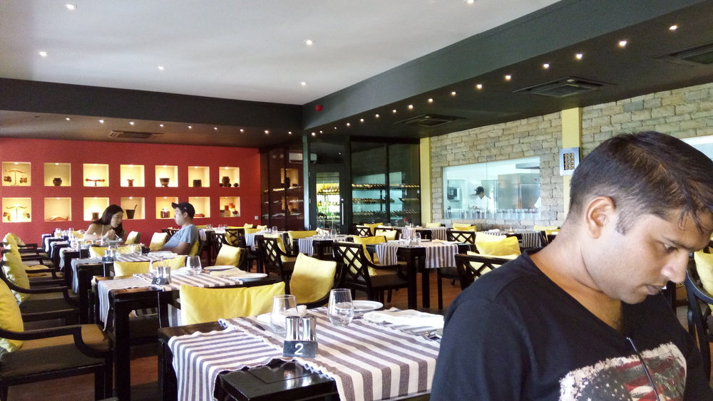 The main restaurant