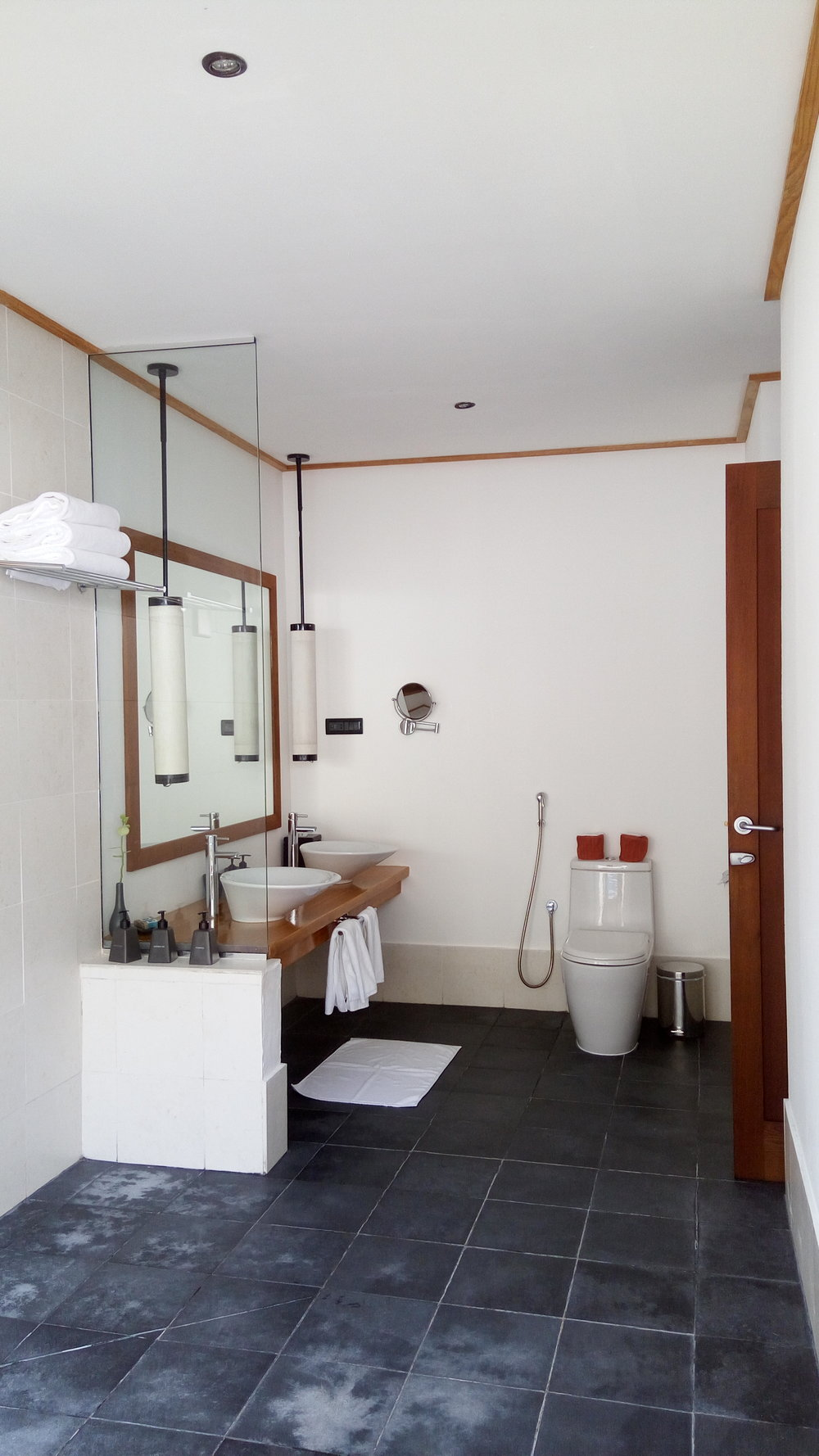 The main bath area Meeru Resort
