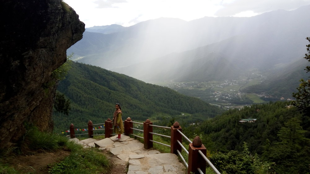 The view near Taktsang monstery in Bhutan