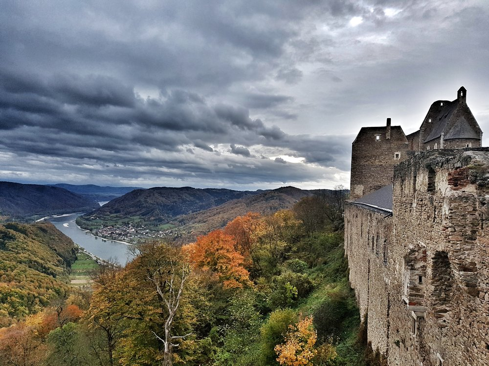 A rather not-so-famous yet so beautiful Burgruine Aggstein Castle, Austria.jpeg
