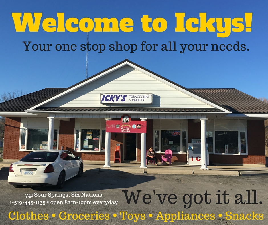 Advertisement: Icky's Variety and Tobacconist