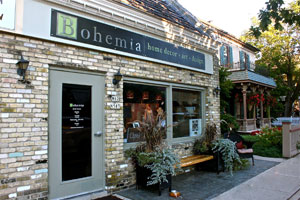 Bohemia Home Design - W62 N587 Washington AveCedarburg, WI 53012Located on Washington Avenue in historic downtown Cedarburg, offers distinctive home decor, local art and handmade gifts and accessories. Bohemia proudly represents some of the areas most notable artists and craftspeople.