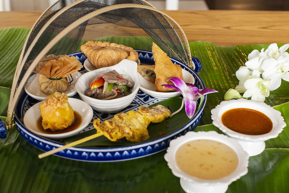 Thai Heritage Set Lunch  - Classic Selection of our dishes, served on a hand painted porcelain tray