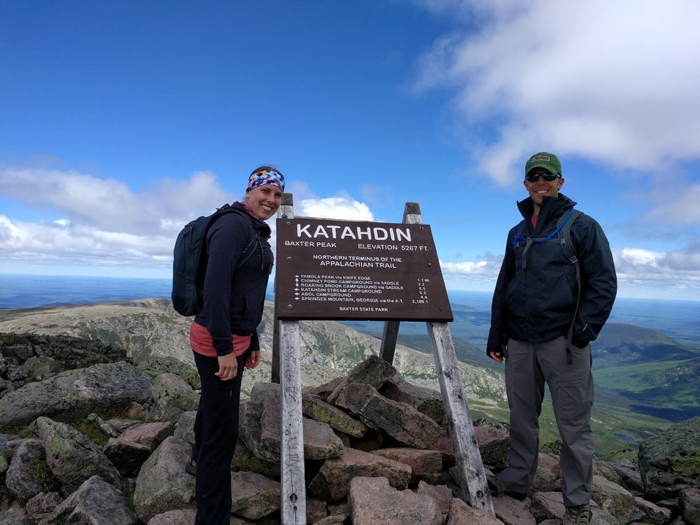 New sign at Baxter Peak!