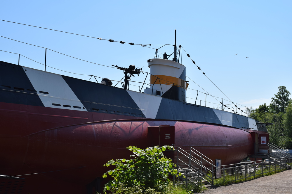 WWII submarine at Suomenlinna