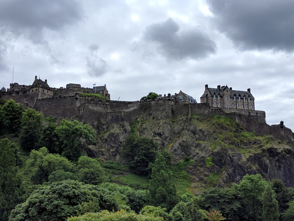 Edinburgh Castle - Our Hostel was on the opposite side of the castle