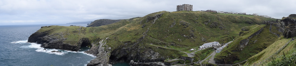Looking out from the cliffs of Tintagel. Merlin's cave was below us.