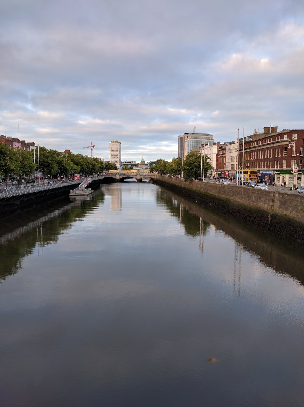 The River Liffey through Dublin
