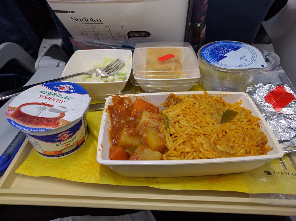 Jet Airways gave us decent Indian curry on our 3 and half our flight to Delhi
