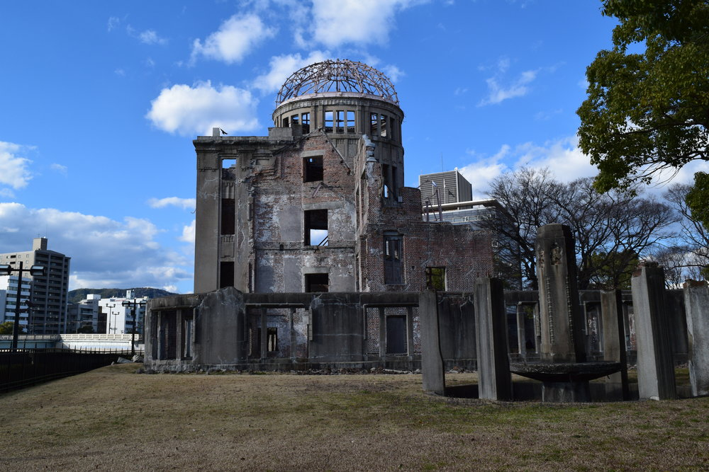 The A-bomb Dome was left as a reminder to show the disastrous effects of nuclear weapons
