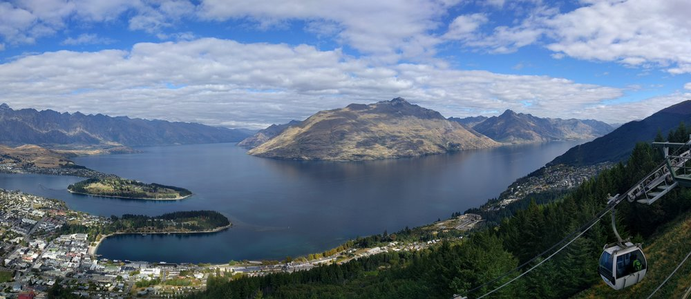 The view from the top of the Queenstown Gondola
