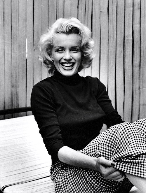 Marilyn Monroe in gingham. c/o  Appycat .