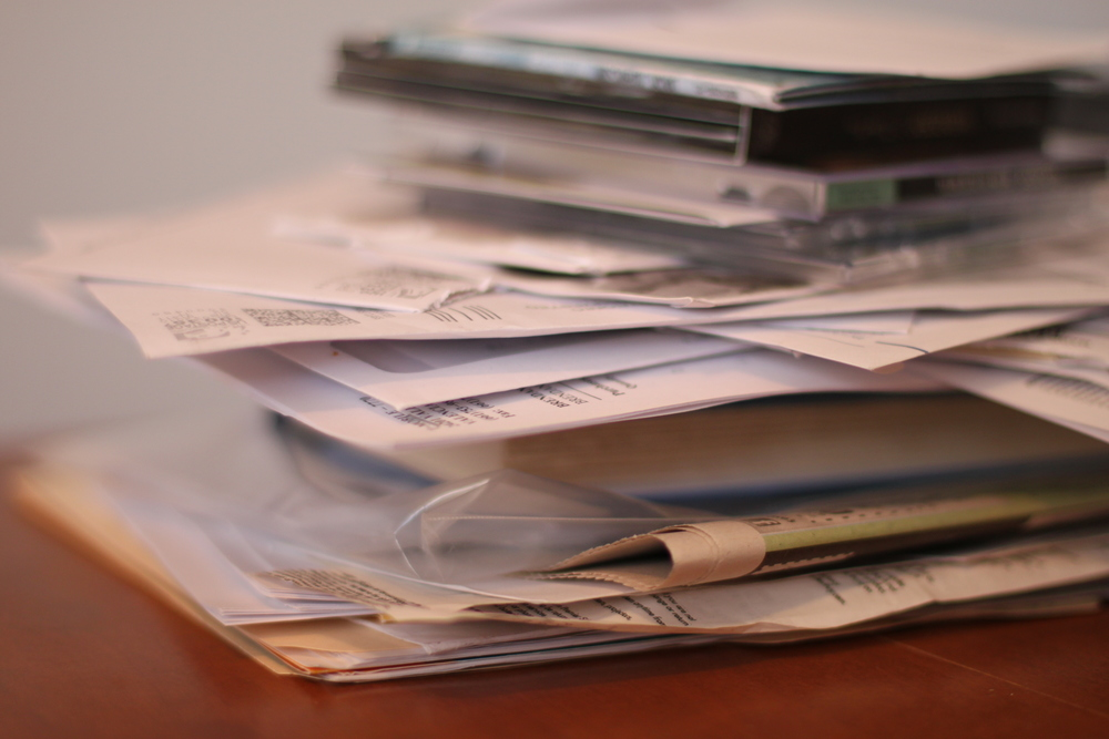 Get control of paper clutter