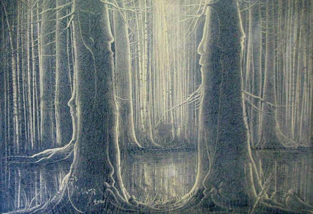 75-Manouchehr Niazi - 120x184cm -Abundance of trees 3- 2010.jpg