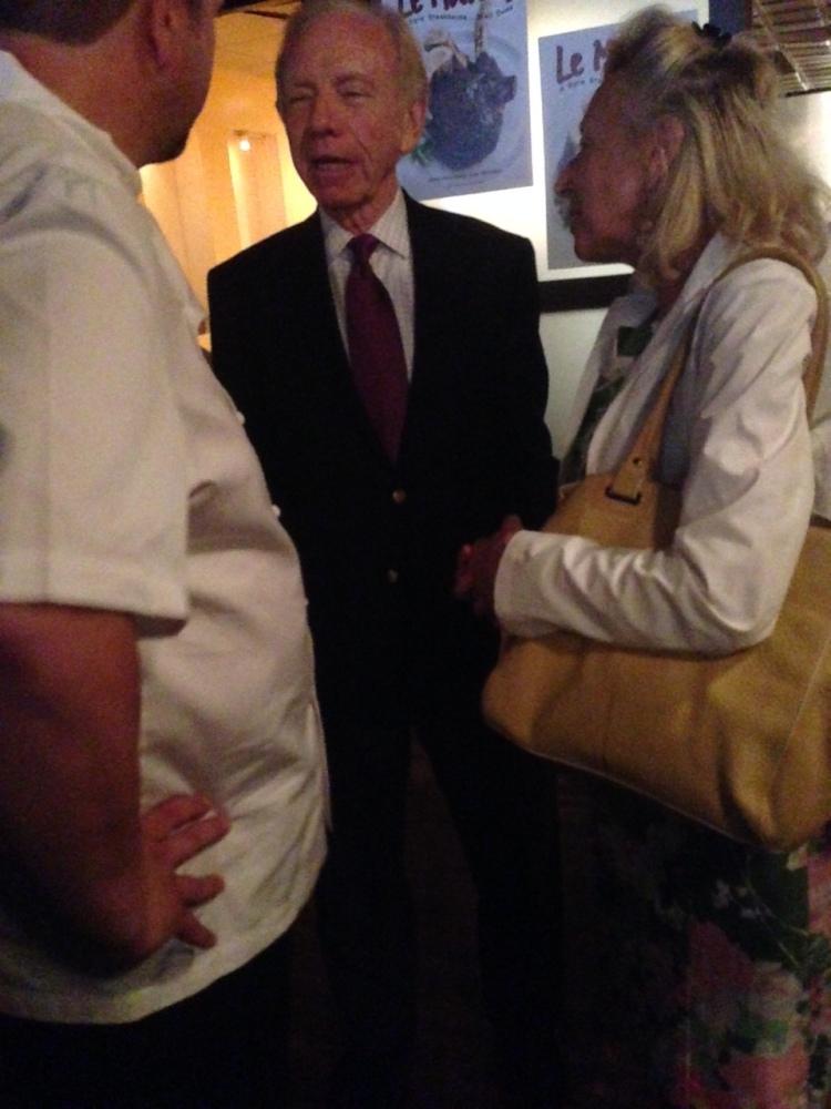 Senator Joseph Lieberman and Hadassah Lieberman at the cookbook launch event.