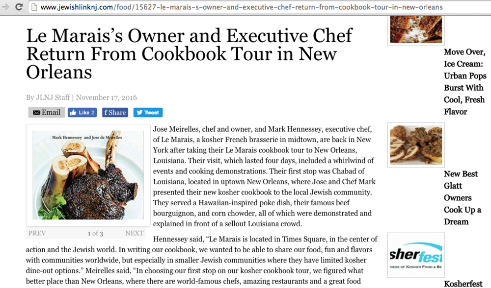 Jewish Link of NJ Features Le Marais Tour to NOLA
