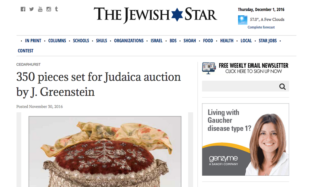 J. Greenstein's feature in The Jewish Star