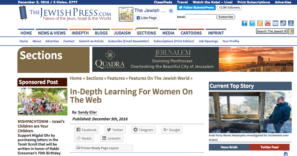 CyberSem's feature in The Jewish Press