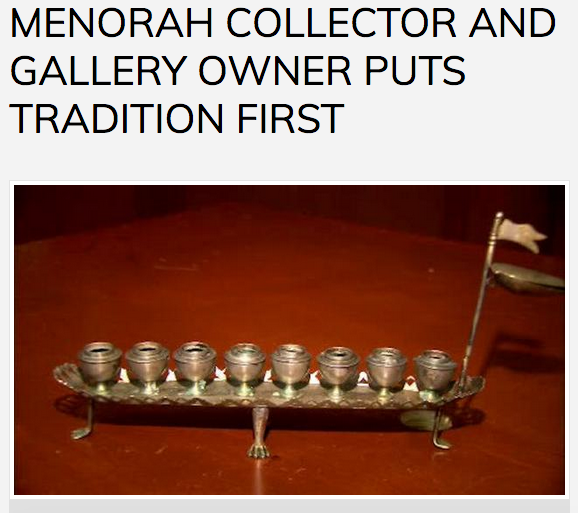 Jonathan Greenstein and his Menorah Collection on ABC 7