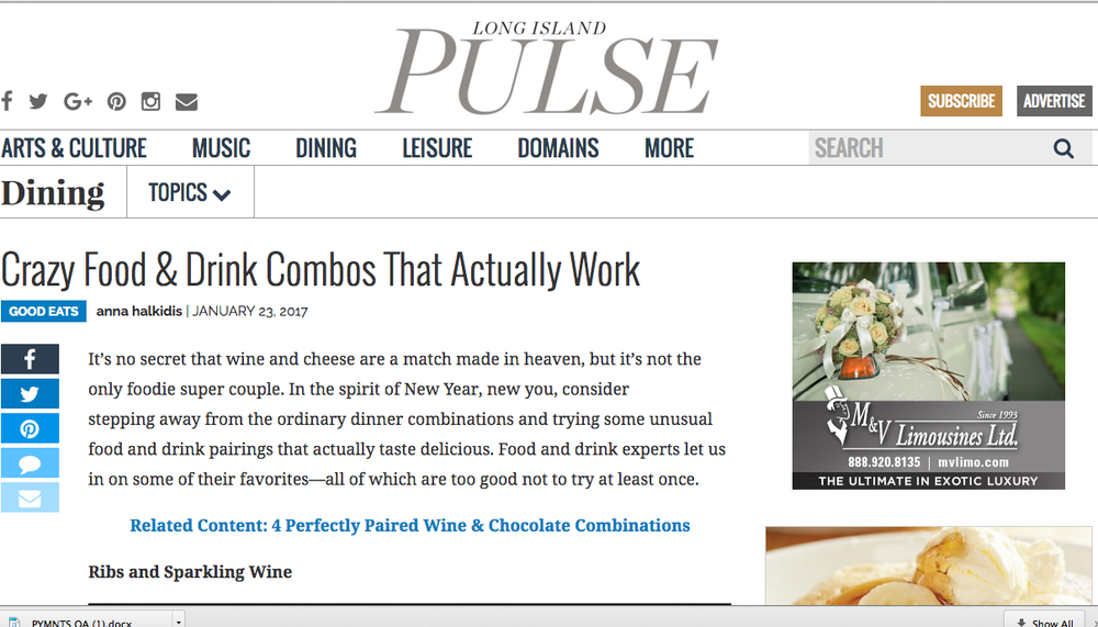 Chef Mark Hennessy feature in LI Pulse