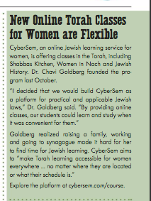 CyberSem feature in San Diego Jewish Journal