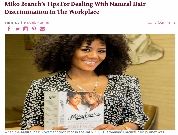 Miko Branch feature in MadameNoire