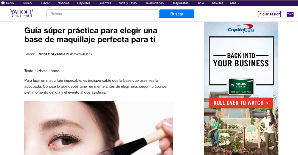 Shara Strand feature in Yahoo en Español