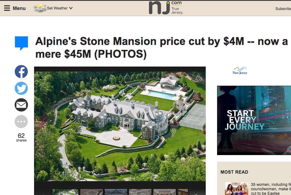 Stone Mansion's feature in NJ.com