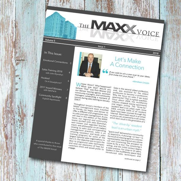 THE MAXX VOICE PRINT DESIGN | EDITORIAL | COPY