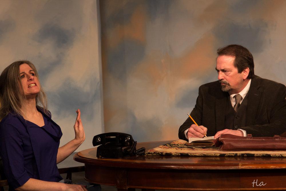 Beta Louise Simmons (Caroline Beadle) & Judge Gaffney (C. Arthur Kennett)