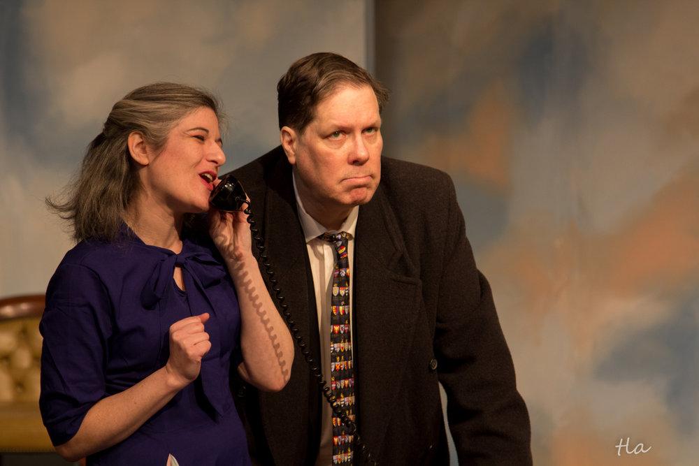 Beta Louise Simmons (Caroline Beadle) & Dr. Chumley (Edward Kuffert)