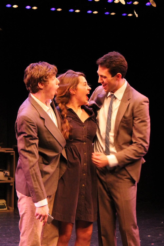 Charlie Kringas (Eamon Foley), Mary Flynn (Olivia Nice) & Franklin Shepard (Dan Yawitz)