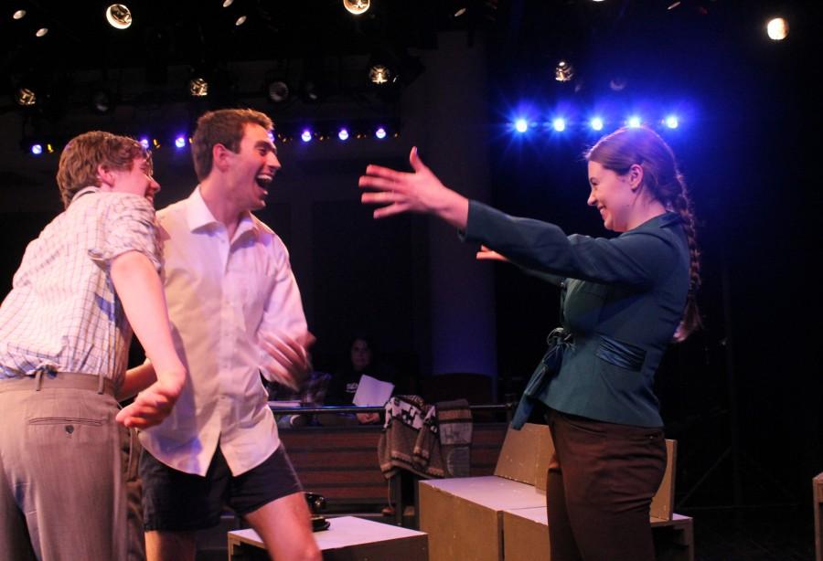 Charlie Kringas (Eamon Foley), Franklin Shepard (Dan Yawitz) & Mary Flynn (Olivia Nice)
