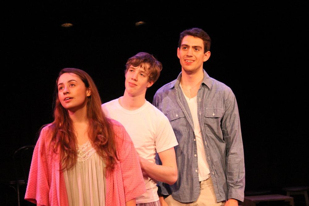Mary Flynn (Olivia Nice), Charlie Kringas (Eamon Foley) & Franklin Shepard (Dan Yawitz)