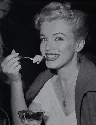 One of Marilyn's favourite treats was a hot fudge sundae