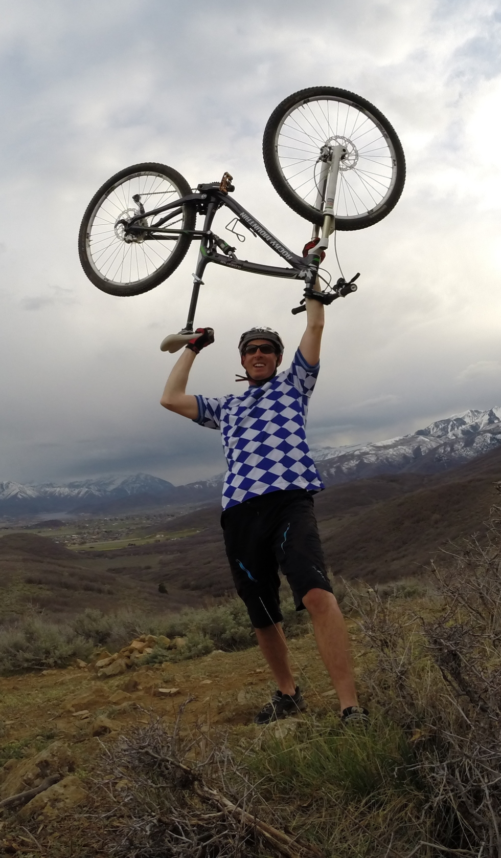 Mark Nepermann mountain biking in Utah.