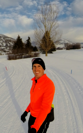 Mark Nepermann enjoying one of his favorite activities: skate skiing.