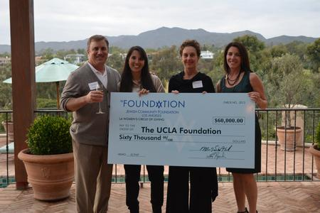 (From left) Jordan Kaplan, Stephanny Freeman and Tanya Paparella of UCLA's Early Childhood Partial Hospitalization Program; and Mindy Freedman, founder of the LA Women's Circle of Giving.